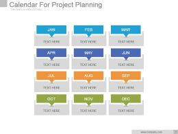 Calendar For Project Planning Powerpoint Slide Backgrounds