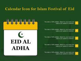 Calendar Icon For Islam Festival Of Eid