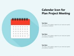 Calendar Icon For Plan Project Meeting