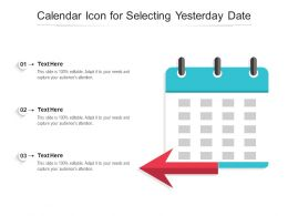 Calendar Icon For Selecting Yesterday Date