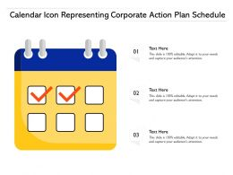 Calendar Icon Representing Corporate Action Plan Schedule