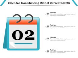 Calendar Icon Showing Date Of Current Month