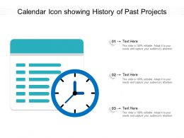 Calendar Icon Showing History Of Past Projects