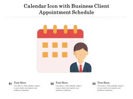 Calendar Icon With Business Client Appointment Schedule