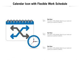 Calendar Icon With Flexible Work Schedule