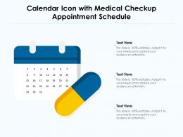 Calendar Icon With Medical Checkup Appointment Schedule