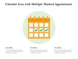 Calendar Icon With Multiple Marked Appointment
