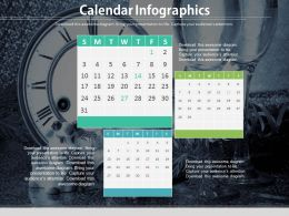 Calendar Infographics For Data Verification Powerpoint Slides