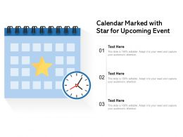Calendar Marked With Star For Upcoming Event