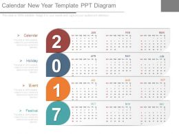 Calendar New Year Template Ppt Diagram