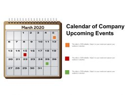 Calendar Of Company Upcoming Events