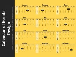 Calendar Of Events Design