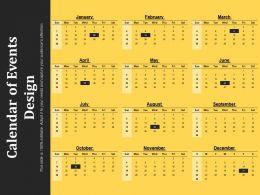 Calendar Of Events Design