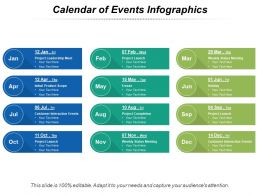Calendar Of Events Infographics