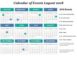 Calendar Of Events Layout