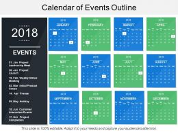 Calendar Of Events Outline