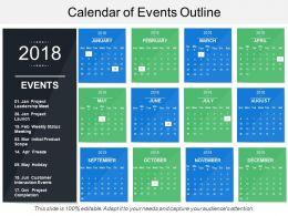 Calendar Of Events Outline