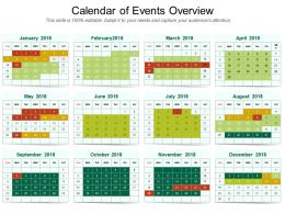 Calendar Of Events Overview