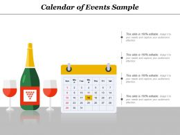 Calendar Of Events Sample