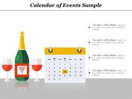 Calendar Of Events Sample