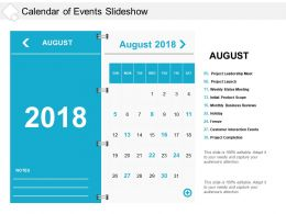 Calendar Of Events Slideshow