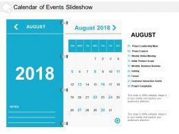 Calendar Of Events Slideshow