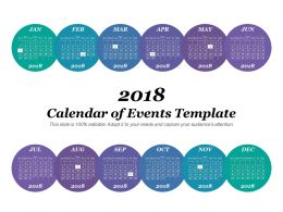 Calendar Of Events Template