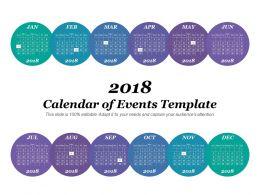 Calendar Of Events Template
