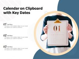 Calendar On Clipboard With Key Dates