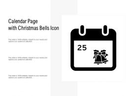 Calendar Page With Christmas Bells Icon
