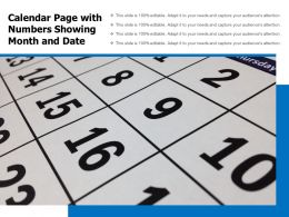 Calendar Page With Numbers Showing Month And Date