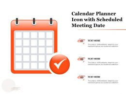 Calendar Planner Icon With Scheduled Meeting Date