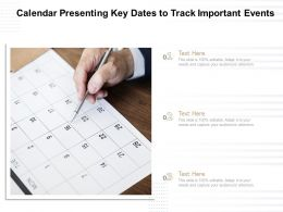 Calendar Presenting Key Dates To Track Important Events