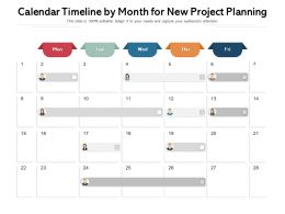 Calendar Timeline By Month For New Project Planning
