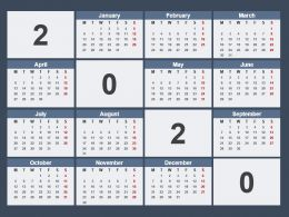 Calender 2020 Powerpoint Template
