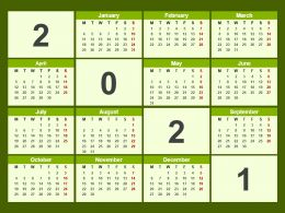 Calender 2021 Ppt Template