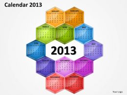 Calender For The Year 2013 PowerPoint Slides PPT templates