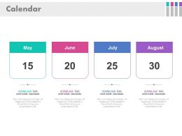 Calender With Specific Months And Date Powerpoint Slide