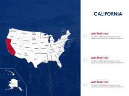 California Map Powerpoint Presentation PPT Template