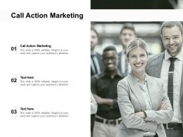 Call Action Marketing Ppt Powerpoint Presentation Summary Graphics Cpb