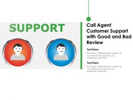 Call Agent Customer Support With Good And Bad Review