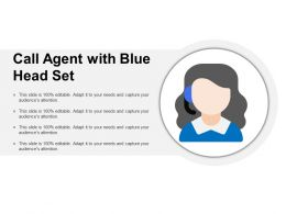 Call Agent With Blue Head Set