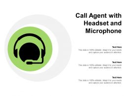 Call Agent With Headset And Microphone