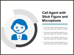 Call Agent With Stick Figure And Microphone