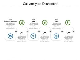 Call Analytics Dashboard Ppt Powerpoint Presentation Inspiration Template Cpb