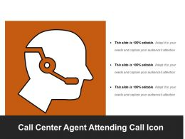 Call Center Agent Attending Call Icon