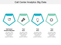 Call Center Analytics Big Data Ppt Powerpoint Presentation Outline Slides Cpb