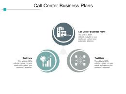 Call Center Business Plans Ppt Powerpoint Presentation Gallery Visuals Cpb