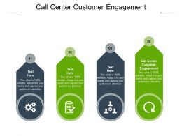 Call Center Customer Engagement Ppt Powerpoint Presentation File Example Topics Cpb