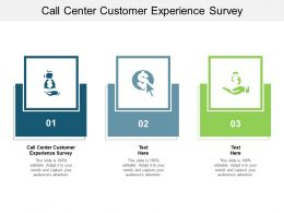 Call Center Customer Experience Survey Ppt Powerpoint Presentation Infographics Designs Cpb
